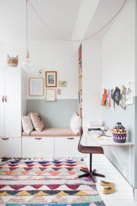kid's room with a bracket desk