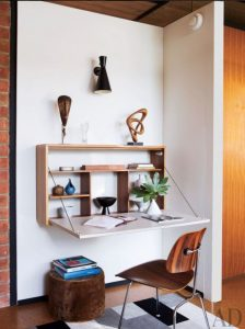 wooden fold down desk